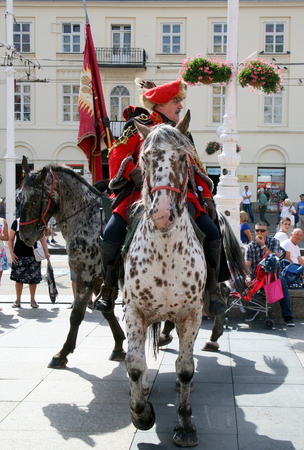 zagreb: Ancient historical Croatian horse guard