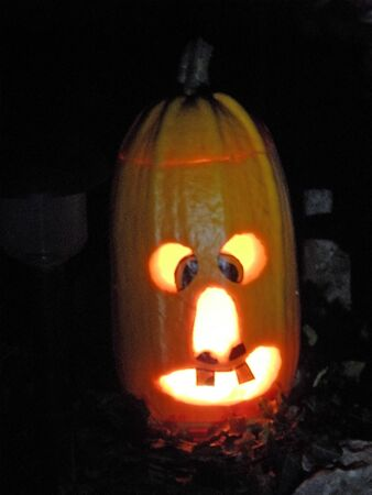 craftmanship: A picturesque, funny, colourful funny Halloweens pumpkin.5