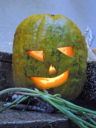 scarry: A picturesque, funny, colourful smiling Halloweens pumpkin.1