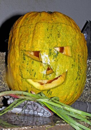 scarry: A picturesque, funny, colourful smiling Halloweens pumpkin.2
