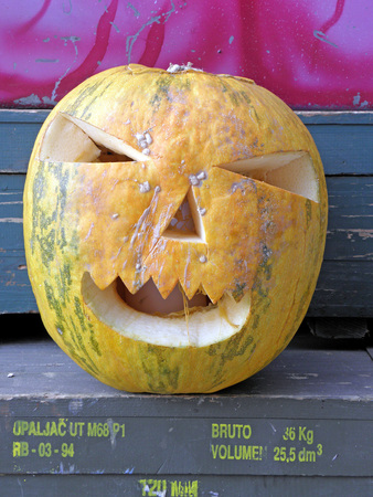 scarry: A picturesque, funny, colourful scarry Halloweens pumpkin. 7