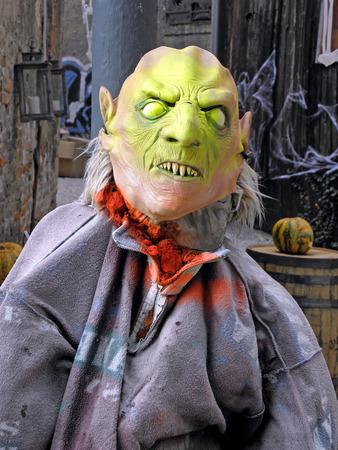 creep: Scarry monster,fancy Halloweens art instalation,Zagreb 2015.,Croatia,Europe,1
