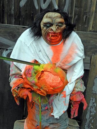 scarry: Scarry monster,fancy Halloweens art instalation,Zagreb 2015.,Croatia,Europe,4 Editorial