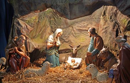 scène natif Sainte, la Basilique de Sacré-C?ur de Jésus, 6, rue Palmoticeva, Zagreb, Croatie, Europe 2015. Éditoriale