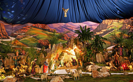Holy native scene,Franciscan church,11,Zagreb,Croatia,Europe 2015.