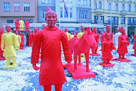 yong: Chinese new year 4713th, Bing Ma Yong warriors, Zagreb, 4, Croatia, Europe, 2016.