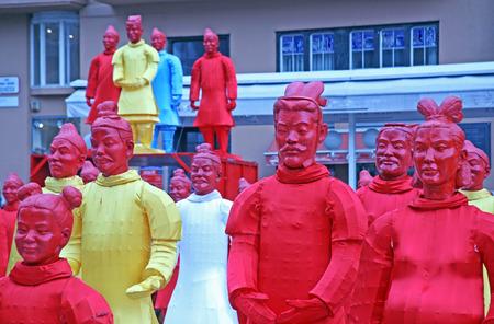 bing: Chinese new year 4713th, Bing Ma Yong warriors, Zagreb, 8, Croatia, Europe, 2016.