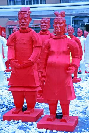 yong: Chinese new year 4713th, Bing Ma Yong warriors, Zagreb, 9, Croatia, Europe, 2016.
