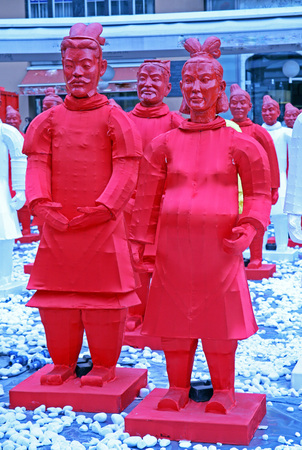 bing: Chinese new year 4713th, Bing Ma Yong warriors, Zagreb, 9, Croatia, Europe, 2016.