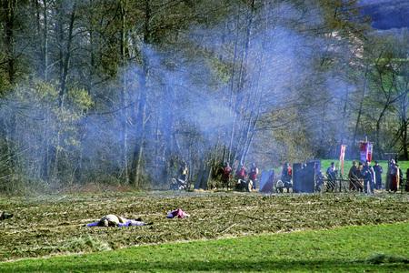 revolt: Peasants revolt a.d.1573., reenactment of the final battle,1, Donja Stubica, Hrvatsko zagorje, Croatia, europe, 2016.