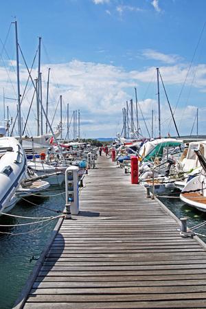 krk: Marina Punat, docks, Adriatic coast, island Krk, 9 , Croatia, Europe Stock Photo