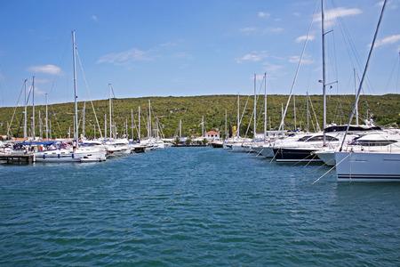 Marina Punat, yachts, Adriatic coast, island Krk, 11 , Croatia, Europe