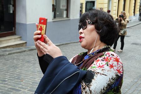 enyoing: Korean tourists enyoing Kravatas day,Zagreb,6