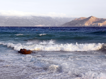 Baska,island Krk,storm arriving,Croatia,Europe,11
