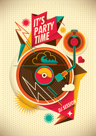 youthful: Party poster. Illustration
