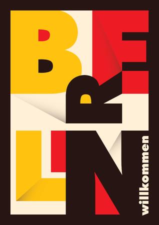 タイポグラフィーとベルリンのポスター。