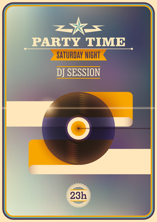 party time: Party time poster design.