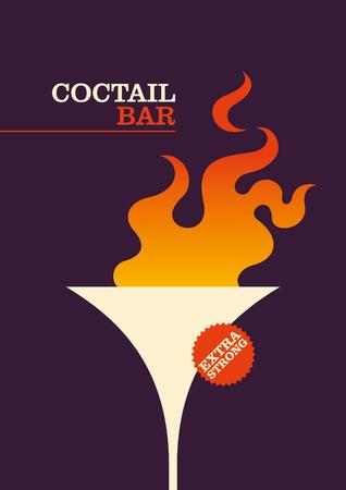 modish: Cocktail bar poster design. Illustration