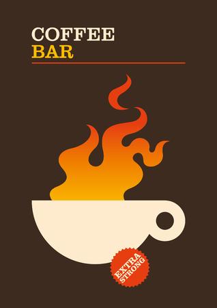 minimalistic: Coffee bar minimalistic poster design.