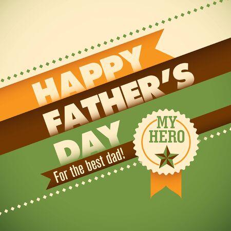 modish: Fathers day card design. Illustration