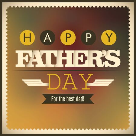 fatherhood: Fathers day card with retro design elements.