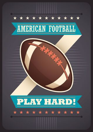 bilboard: American football poster design.