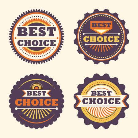 cachet: Best choice retro labels.