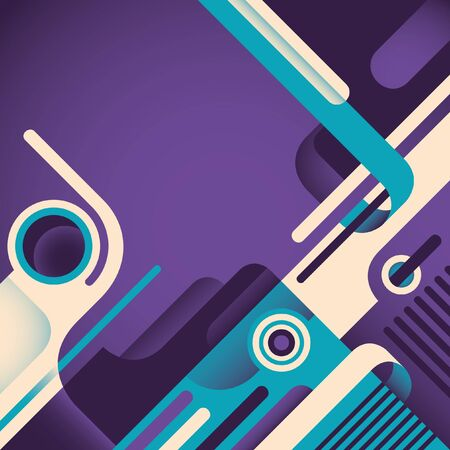 designed: Abstract illustration with designed shapes.