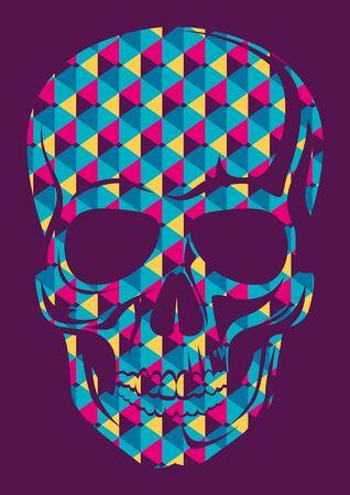 composed: Conceptual human skull.