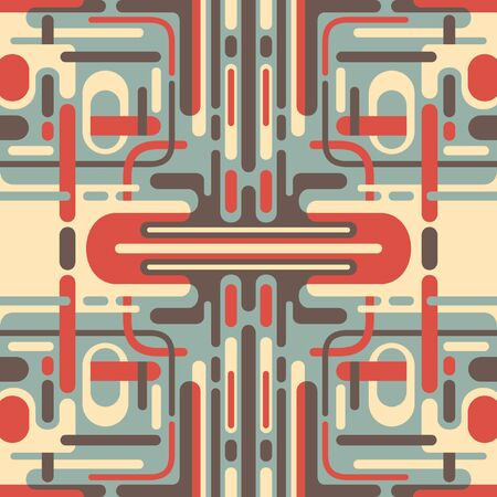 abstraction: Illustration of retro abstraction. Illustration