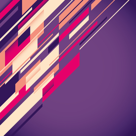 modish: Abstract layout in color.
