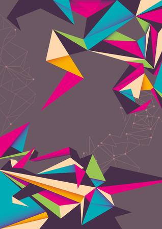 angular: Abstraction with angular shapes.