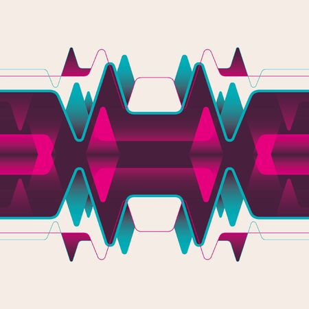 abstraction: Futuristic conceptual abstraction. Illustration