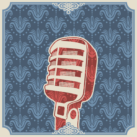 microfono antiguo: Fondo de la vendimia con el micr�fono.