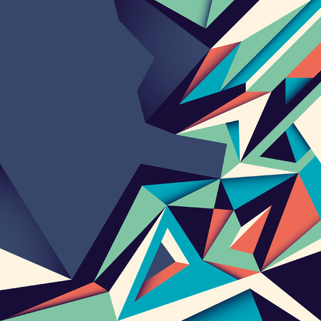 modish: Angular abstraction in color.