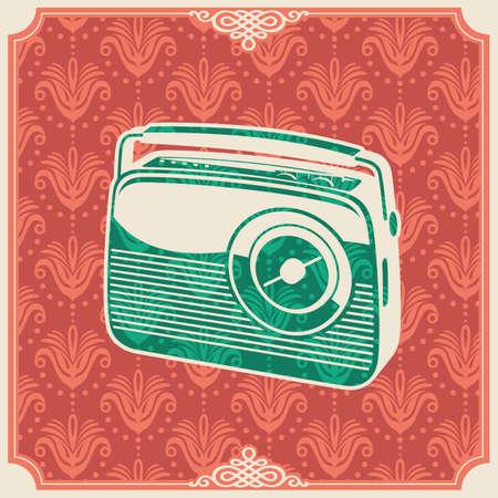 transistor: Background with retro radio.