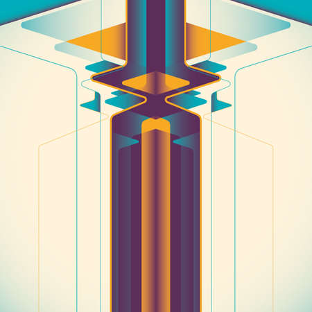 designed: Designed technology abstraction in color. Illustration