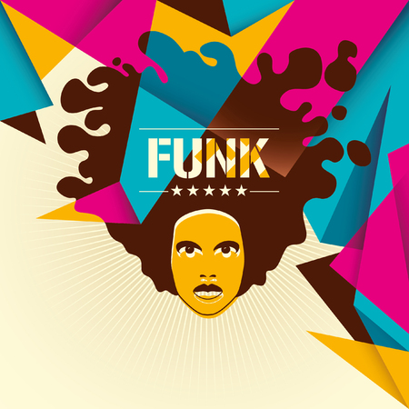 funk: Designed funk background in color.
