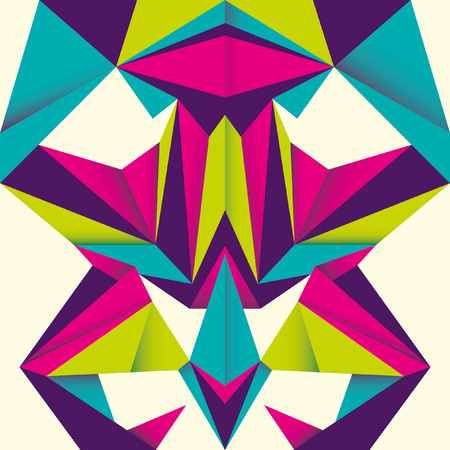 modish: Angular abstraction with colorful objects.