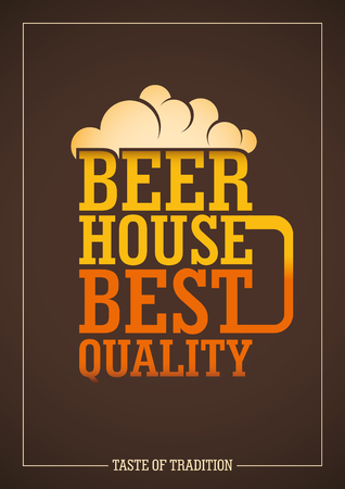 beer house: Beer house poster design with typography.