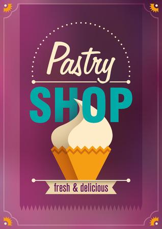 pastry shop: Pastry shop poster design.