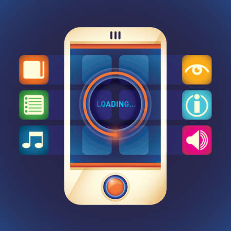 smart phone: Smart phone with applications.