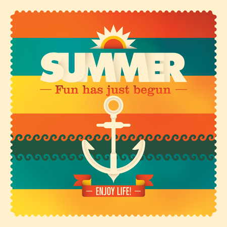 beach ad: Colorful summer background design.