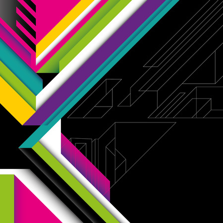 abstraction: Futuristic abstraction with colorful shapes.