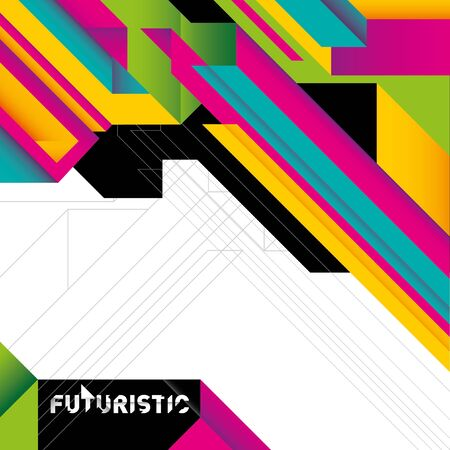 abstraction: Futuristic colorful background with abstraction. Illustration