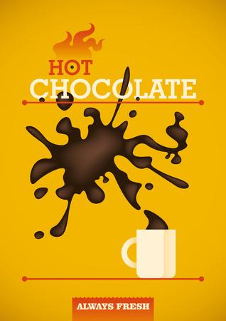 sweetened: Hot chocolate poster design.