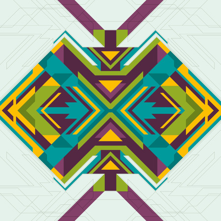 abstraction: Geometric colorful abstraction. Illustration
