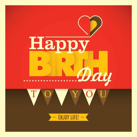 Colorful Birthday Card With Modern Design Royalty Free Cliparts