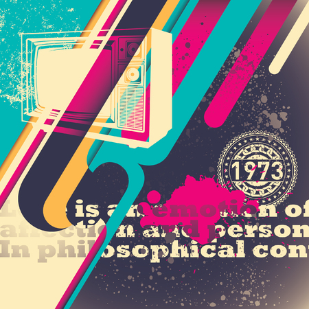 illustrated: Illustrated retro background. Illustration