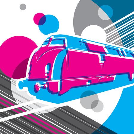 conceptual: Conceptual artistic graphic with locomotive.